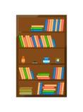 Ξύλινο διανυσματικό εικονίδιο γραφείων βιβλίων Στοκ φωτογραφίες με δικαίωμα ελεύθερης χρήσης