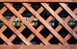 Ξύλινο δικτυωτό πλέγμα Στοκ εικόνα με δικαίωμα ελεύθερης χρήσης