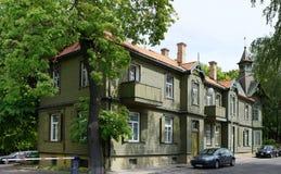 Ξύλινο ιστορικό σπίτι αριθμός 33 Στοκ φωτογραφίες με δικαίωμα ελεύθερης χρήσης
