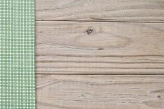 Ξύλινο και πράσινο καρό Στοκ φωτογραφία με δικαίωμα ελεύθερης χρήσης