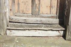 Ξύλινο κατώφλι πορτών Στοκ Εικόνα