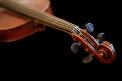 Ξύλινο καφετί βιολί στοκ φωτογραφίες με δικαίωμα ελεύθερης χρήσης