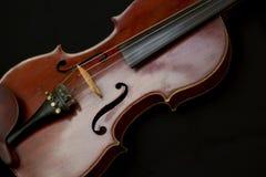Ξύλινο καφετί βιολί στοκ φωτογραφία με δικαίωμα ελεύθερης χρήσης
