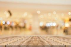 Ξύλινο κενό θολωμένο πίνακας υπόβαθρο πινάκων Προοπτική καφετί W στοκ φωτογραφίες με δικαίωμα ελεύθερης χρήσης
