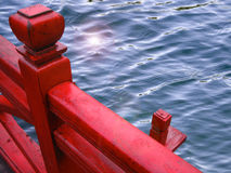 Ξύλινο κιγκλίδωμα στο Βιετνάμ Στοκ φωτογραφία με δικαίωμα ελεύθερης χρήσης
