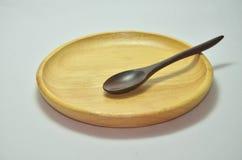 Ξύλινο κουτάλι Στοκ Εικόνες