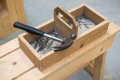 Ξύλινο κουτί εργαλείων Στοκ Εικόνα