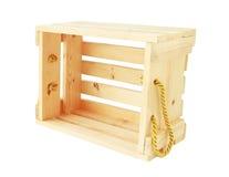 Ξύλινο κλουβί που απομονώνεται στο άσπρο υπόβαθρο Στοκ φωτογραφία με δικαίωμα ελεύθερης χρήσης