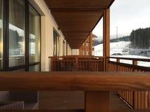 Ξύλινο μπαλκόνι Στοκ εικόνες με δικαίωμα ελεύθερης χρήσης