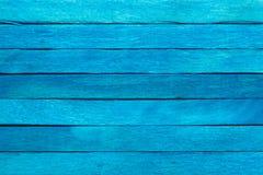 Ξύλινο μπλε υπόβαθρο σανίδων Στοκ Εικόνα