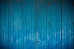 Ξύλινο μπλε υπόβαθρο Στοκ Εικόνες