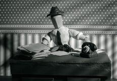 Ξύλινο ομοίωμα Noir Στοκ φωτογραφίες με δικαίωμα ελεύθερης χρήσης