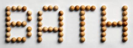Ξύλινο λουτρό ` τέχνης ` του Word καρφιών στοκ εικόνα με δικαίωμα ελεύθερης χρήσης