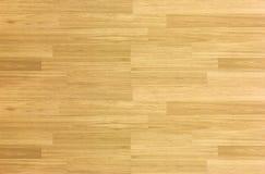 Ξύλινο πάτωμα γήπεδο μπάσκετ σφενδάμνου σκληρού ξύλου παρκέ πατωμάτων που αντιμετωπίζεται Στοκ Εικόνα