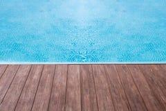 ξύλινο πάτωμα νερού σύστασης Στοκ φωτογραφία με δικαίωμα ελεύθερης χρήσης