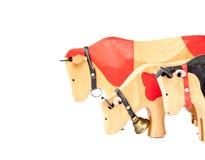 Ξύλινο παιχνίδι αγελάδων Στοκ Εικόνες