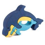 Ξύλινο παιχνίδι δελφινιών Στοκ φωτογραφία με δικαίωμα ελεύθερης χρήσης