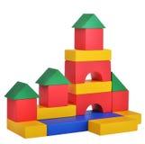 Ξύλινο παιχνίδι οικοδόμησης κάστρων κύβων παιχνιδιών Στοκ εικόνα με δικαίωμα ελεύθερης χρήσης