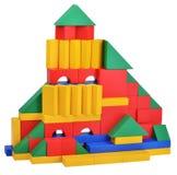 Ξύλινο παιχνίδι οικοδόμησης κάστρων κύβων παιχνιδιών Στοκ εικόνες με δικαίωμα ελεύθερης χρήσης