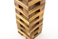 Ξύλινο παιχνίδι φραγμών πύργων Στοκ Εικόνες