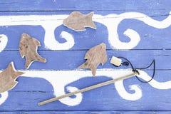 Ξύλινο παιχνίδι ψαριών Στοκ εικόνα με δικαίωμα ελεύθερης χρήσης
