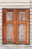Ξύλινο παράθυρο υποβάθρου σύστασης Στοκ Φωτογραφίες
