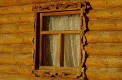 Ξύλινο παράθυρο Στοκ εικόνα με δικαίωμα ελεύθερης χρήσης