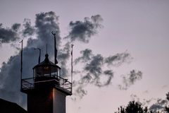 Ξύλινο παρατηρητήριο Στοκ εικόνες με δικαίωμα ελεύθερης χρήσης