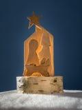 Ξύλινο παχνί Χριστουγέννων Στοκ Φωτογραφίες