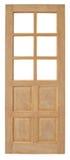 Ξύλινο παλαιό ύφος πορτών στο άσπρο υπόβαθρο Στοκ Φωτογραφίες