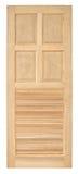 Ξύλινο παλαιό ύφος πορτών στο άσπρο υπόβαθρο Στοκ Εικόνες