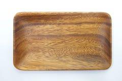 Ξύλινο πιάτο Στοκ φωτογραφίες με δικαίωμα ελεύθερης χρήσης
