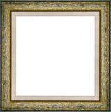 Ξύλινο πράσινο εκλεκτής ποιότητας πλαίσιο εικόνων Στοκ εικόνα με δικαίωμα ελεύθερης χρήσης