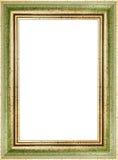 Ξύλινο πράσινο εκλεκτής ποιότητας πλαίσιο εικόνων Στοκ φωτογραφία με δικαίωμα ελεύθερης χρήσης