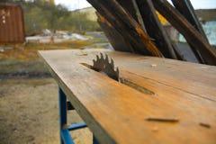 Ξύλινο πριόνι Στοκ Φωτογραφίες