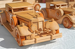 Ξύλινο πρότυπο αυτοκινήτων Στοκ Εικόνες