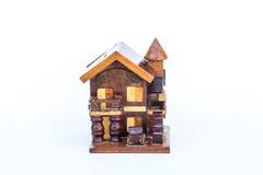 Ξύλινο πρότυπο σπιτιών στοκ φωτογραφίες με δικαίωμα ελεύθερης χρήσης