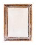 Ξύλινο πλαίσιο Αγροτικό ξύλινο πλαίσιο στο άσπρο υπόβαθρο Στοκ Φωτογραφίες