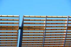 Ξύλινο πλαίσιο για την προστασία από τον ήλιο Στοκ Φωτογραφία