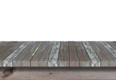 Ξύλινο ράφι για το υπόβαθρο Υπόβαθρο για την έννοια επίδειξης προϊόντων Στοκ Φωτογραφία