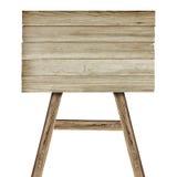 Ξύλινο σημάδι στο λευκό Ξύλινο παλαιό σημάδι σανίδων Στοκ Εικόνα