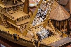 Ξύλινο σκάφος παιχνιδιών Στοκ εικόνα με δικαίωμα ελεύθερης χρήσης