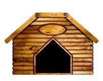 Ξύλινο σκυλόσπιτο Στοκ Εικόνες