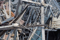 Ξύλινο σπίτι καταστροφών Στοκ Φωτογραφία