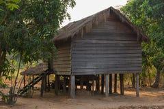 Ξύλινο σπίτι στην Καμπότζη Στοκ φωτογραφία με δικαίωμα ελεύθερης χρήσης