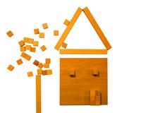 Ξύλινο σπίτι Στοκ εικόνες με δικαίωμα ελεύθερης χρήσης