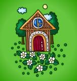 Ξύλινο σπίτι απεικόνιση αποθεμάτων