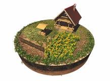 Ξύλινο σπίτι Στοκ Εικόνα