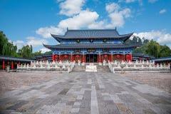 Ξύλινο σπίτι Lijiang, αίθουσα Yunnan Στοκ εικόνες με δικαίωμα ελεύθερης χρήσης