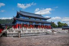 Ξύλινο σπίτι Lijiang, αίθουσα Yunnan Στοκ Εικόνα